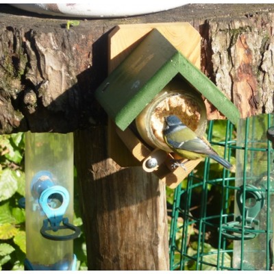 Peanut Butter and Wooden Feeder