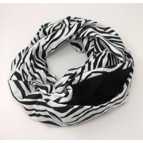 Infinity Bonding Scarf - Zebra
