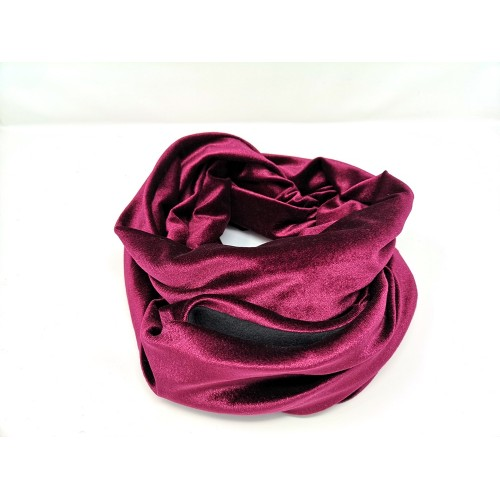 Bonding Pouch Infinity Scarf - velour