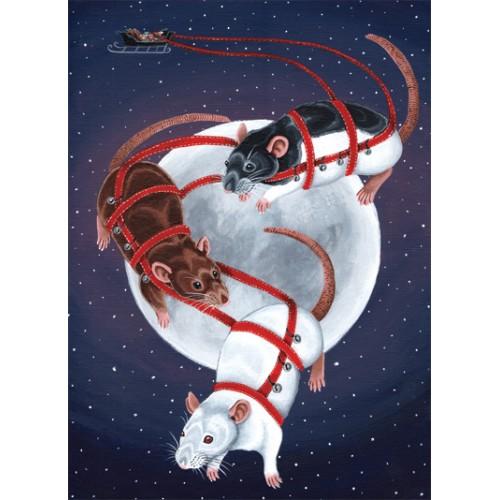 Christmas Card - Sleigh Rats
