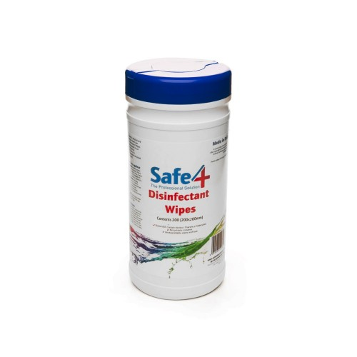 Safe4 Disinfectant Wipes - 200