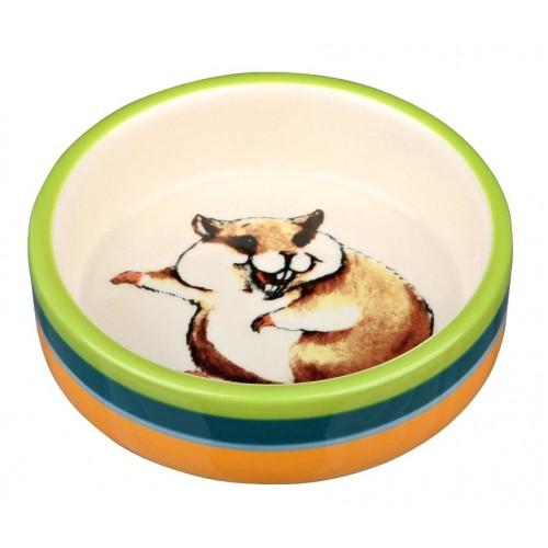 Ceramic Dish - Stripes with Hamster Print