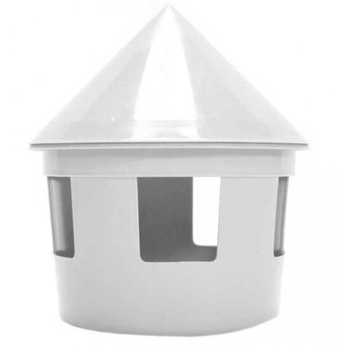 Plastic Hut (chicken feeder) - Grey