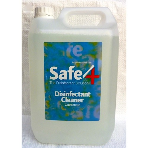 Safe4 Disinfectant - Odourless Concentrate 5lt